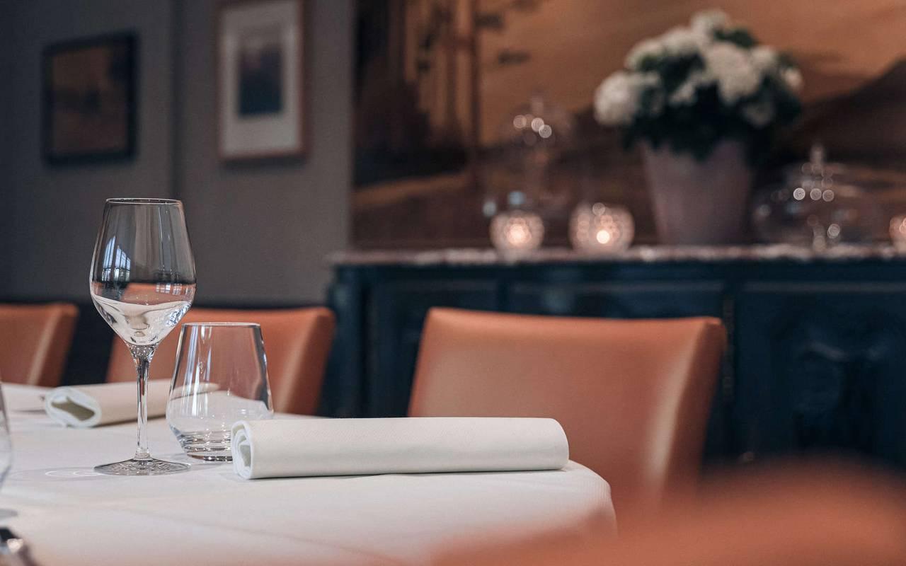 Salle de restaurant chaleureux Hotel de charme Alsace